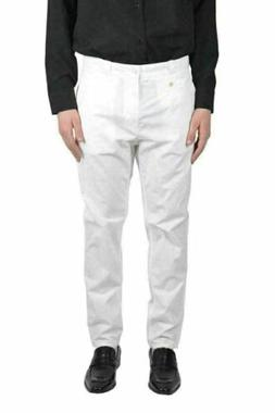 Dolce & Gabbana Men's Pleated White Casual Pants US 30 IT 46